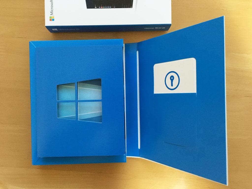 Windows10のパッケージを開封