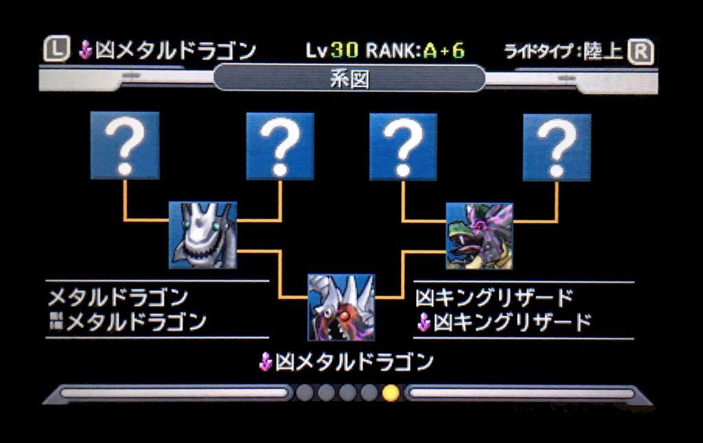 凶メタルドラゴン配合表