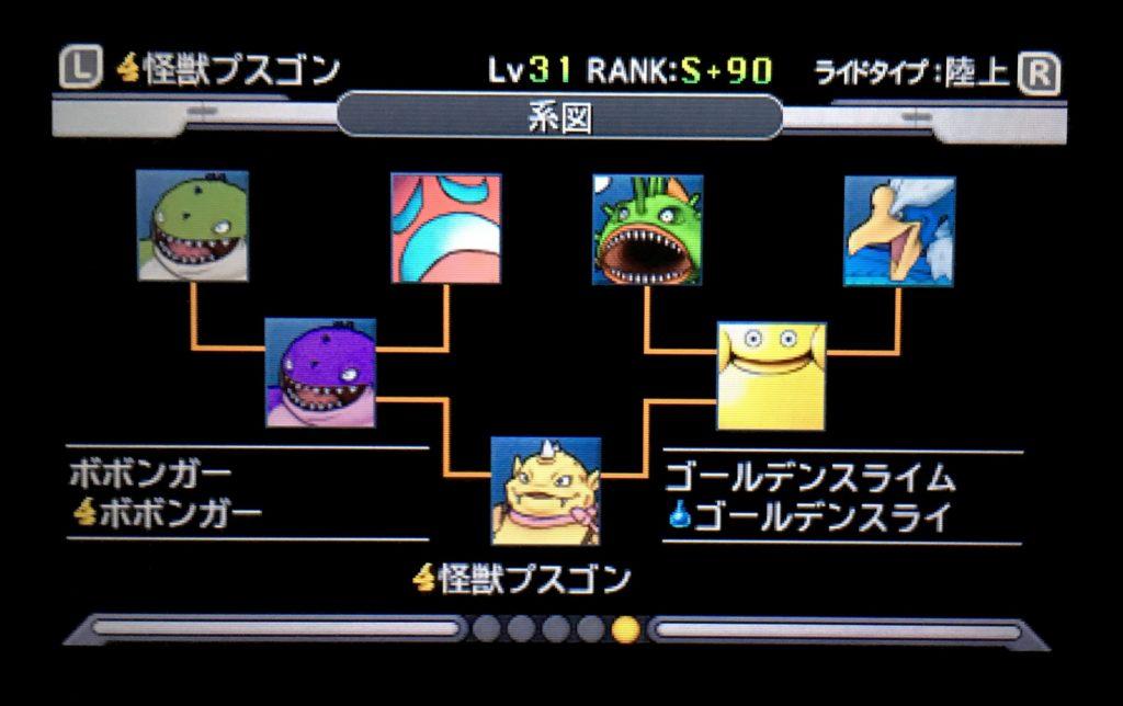 怪獣プスゴン配合表
