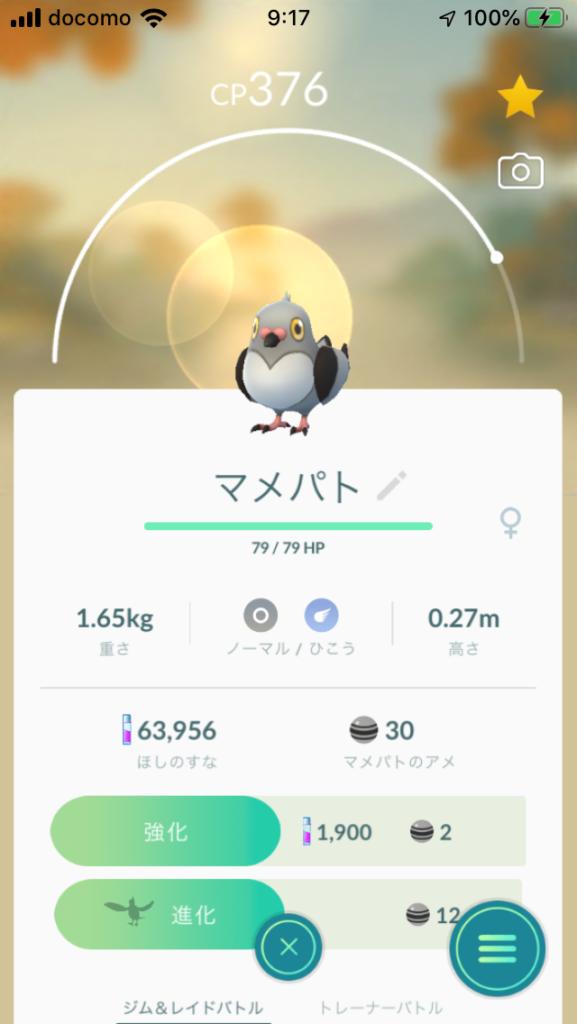 ポケモンGO マメパト