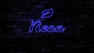 Photopeaで紫色のネオンサインを作ってみた。