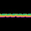 Photopea 三層の3Dグラデーションテキストロゴ