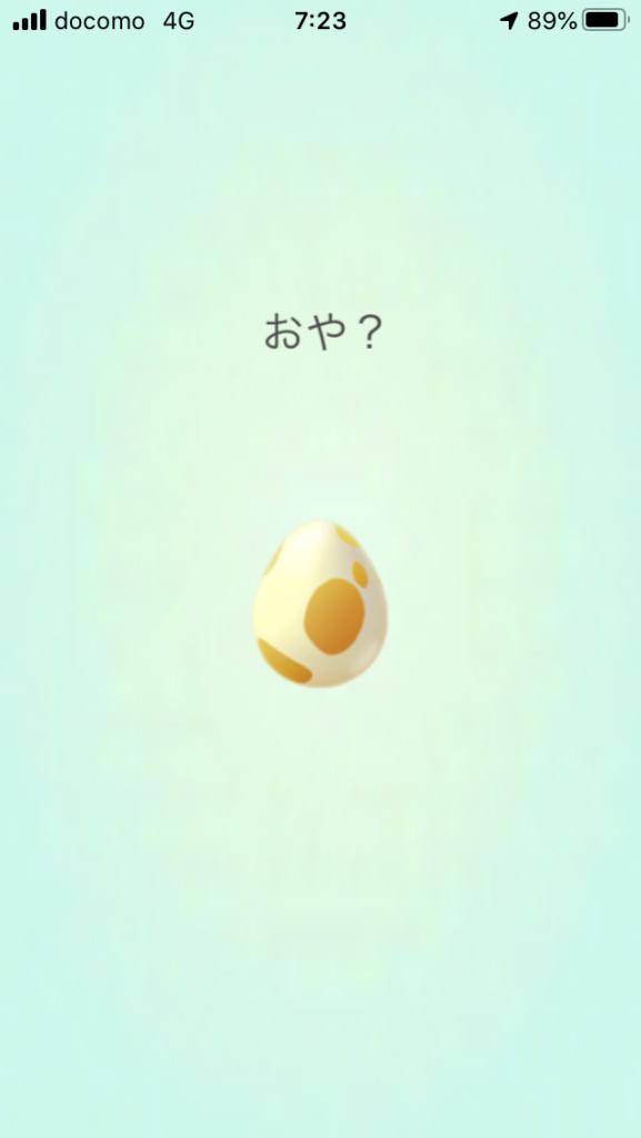 ポケモンGO タマゴ孵化、おや?