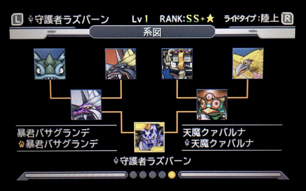 ジョーカー3 守護者ラズバーン配合表