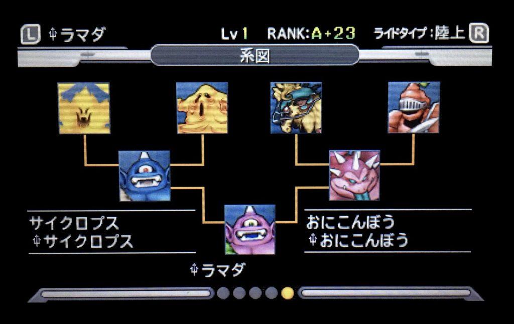 ドラクエジョーカー3 ラマダ配合表