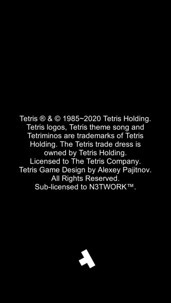 スマホでテトリス 著作権表示