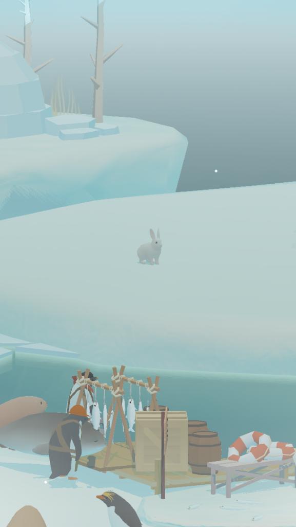 ペンギンの島の白いうさぎ