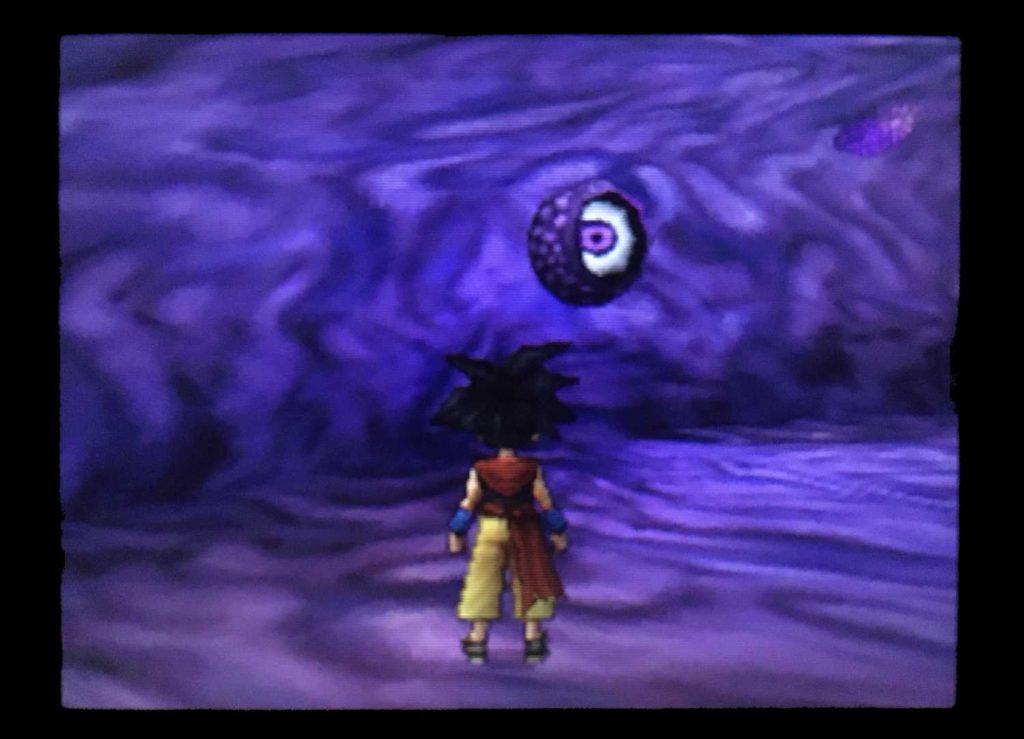 ドラクエジョーカー2 寝ている巨大モンスターの体内でこちらを見つめる目玉を見つけた