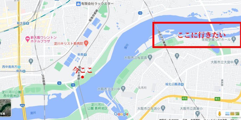 GoogleMap 淀川