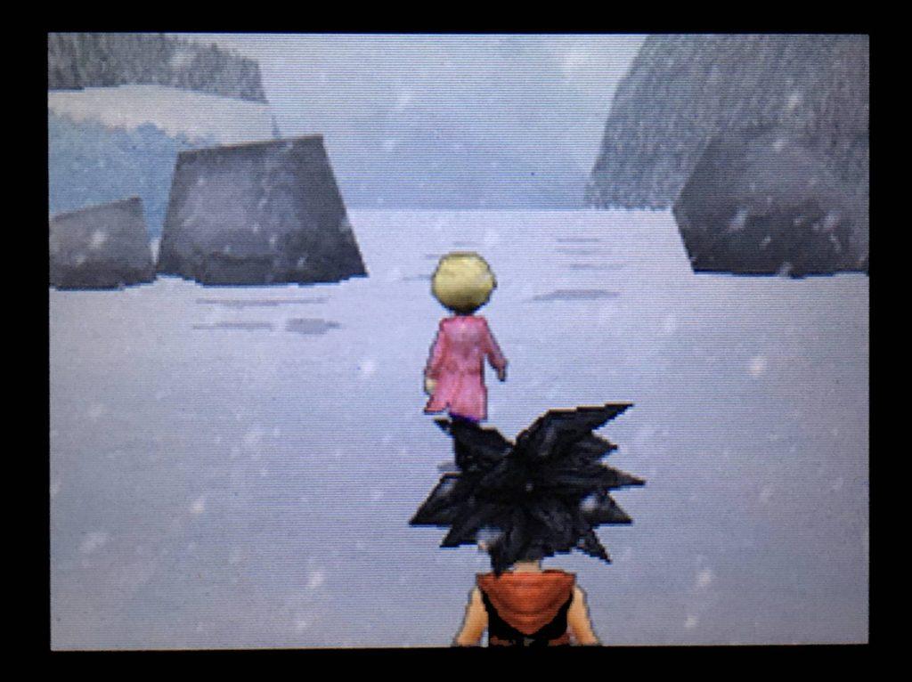 ドラクエジョーカー2 キストーラは雪山の奥へと歩いて行った。