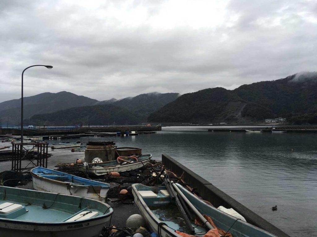 2020年9月 福井県の阿納の港からの風景