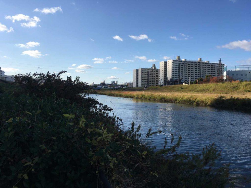 神崎川上流側