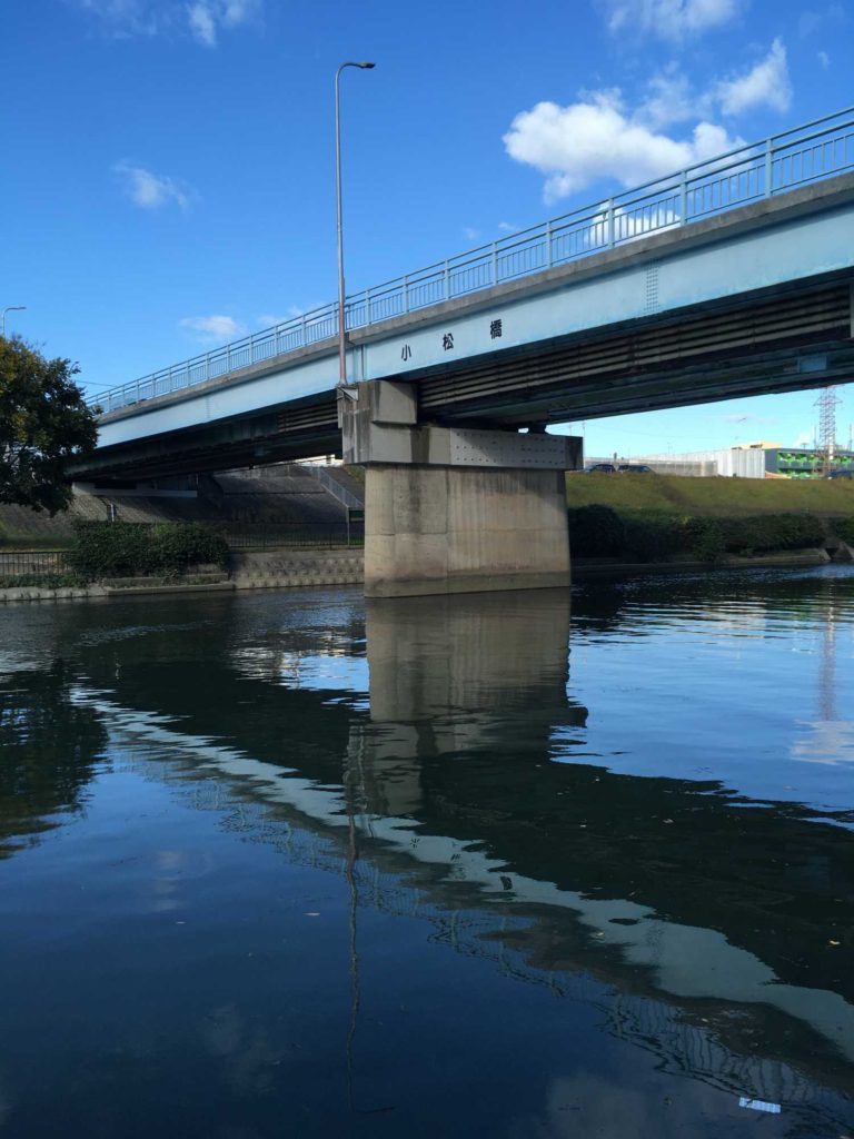 神崎川の小松橋