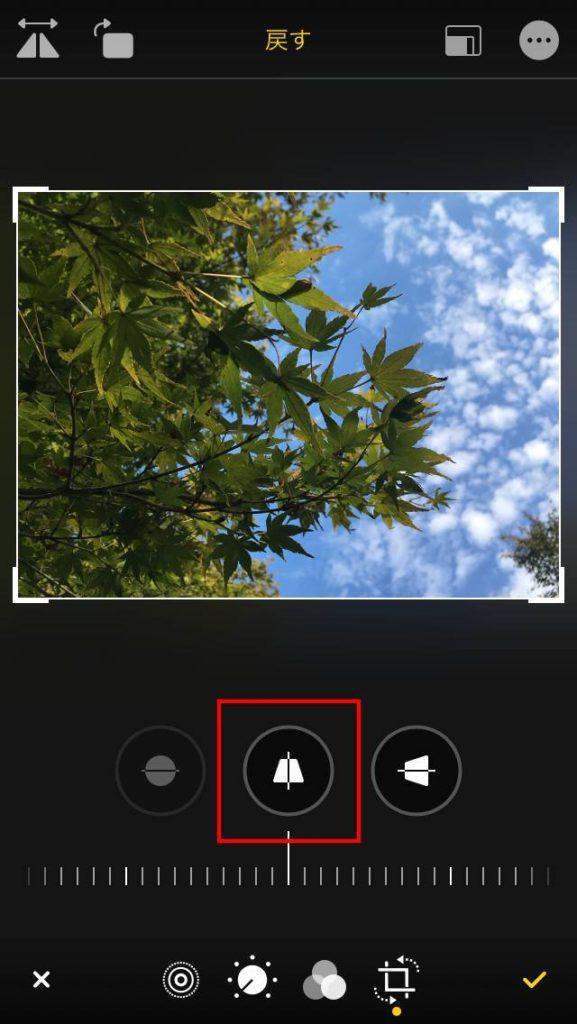 写真編集 写真の傾き調整上下(Y軸方向)