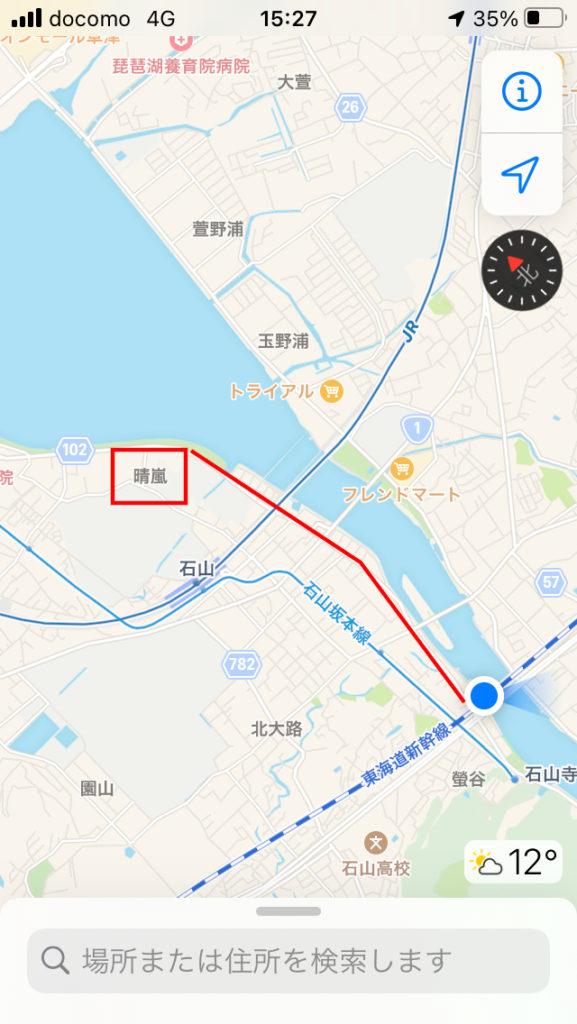 今回瀬田川で釣りして歩いたエリア