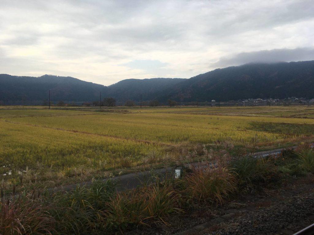 JR余呉駅からの景色