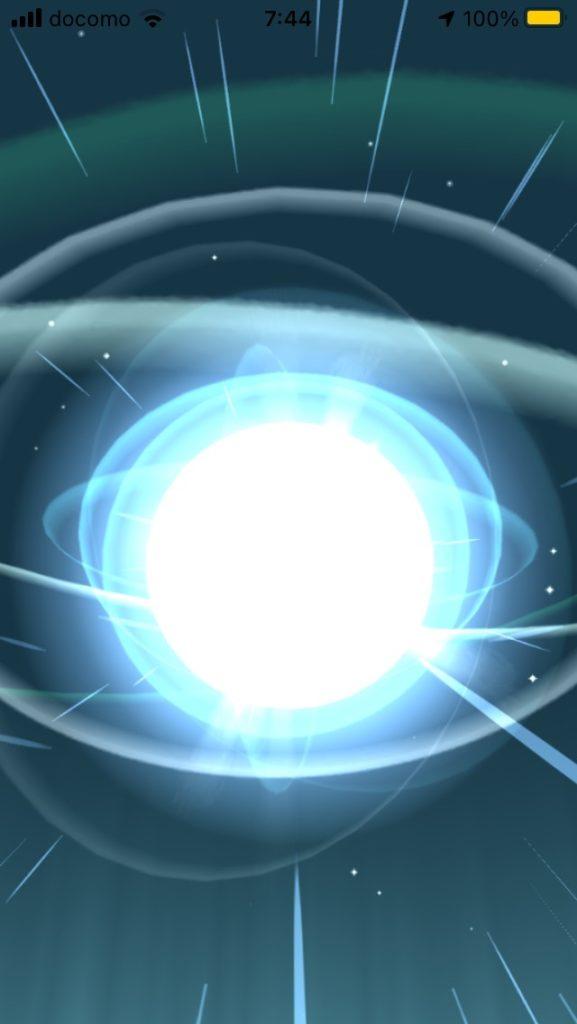 ポケモンの進化の光