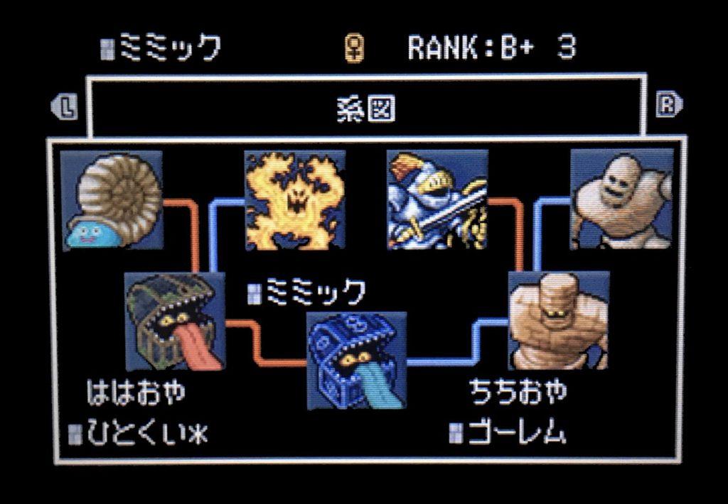 ドラクエジョーカー2 ミミック配合表2