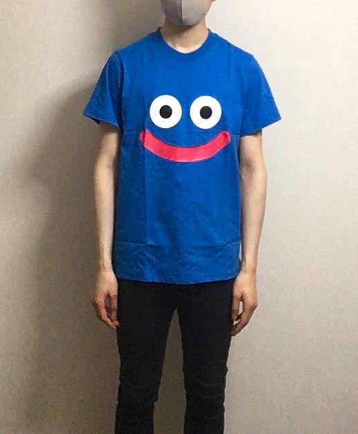 ドラクエローソンで買ったスライムTシャツ着てみた