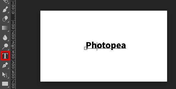 Photopea テキストツールで文字入力