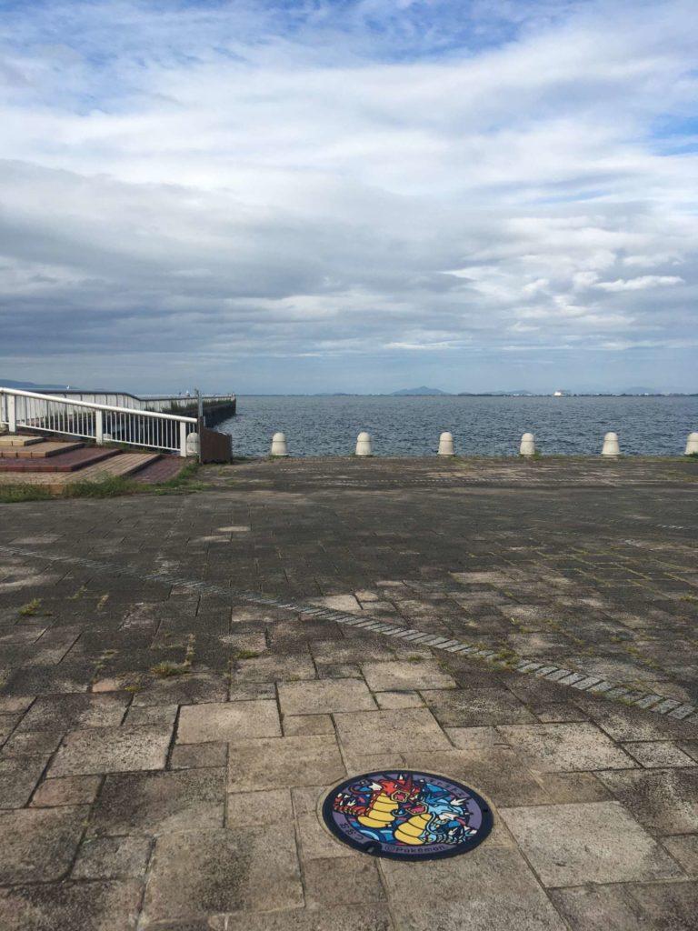 ギャラドスのポケふたと琵琶湖